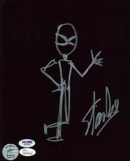 Stan Lee Signed 8X10 Hand Drawn Spider-Man Sketch PSA/DNA #W04814