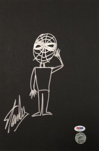 Stan Lee Signed 9x13 Spider-Man Sketch *Marvel PSA AD35751