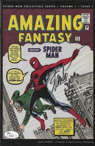 Stan Lee Signed Amazing Fantasy Spider Man Comic Book JSA J97596 Sales Sample