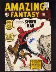 Stan Lee Signed Amazing Fantasy Spiderman 1st Cover 16x20 Photo