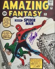 STAN LEE signed Amazing Fantasy's #15 cover 16x20 photo-Stan Lee hologram