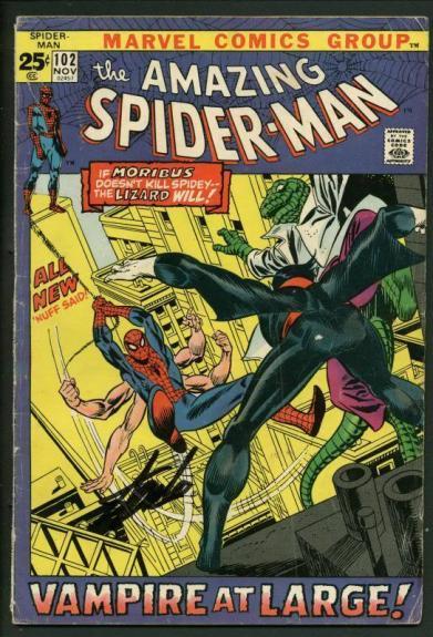 Stan Lee Signed Amazing Spider-Man #102 Comic Book Lizard/Moribus PSA #W18711