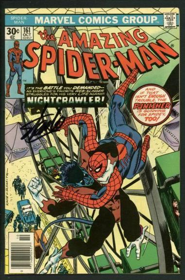 Stan Lee Signed Amazing Spider-Man #161 Comic Book Nightcrawler PSA/DNA #W18738