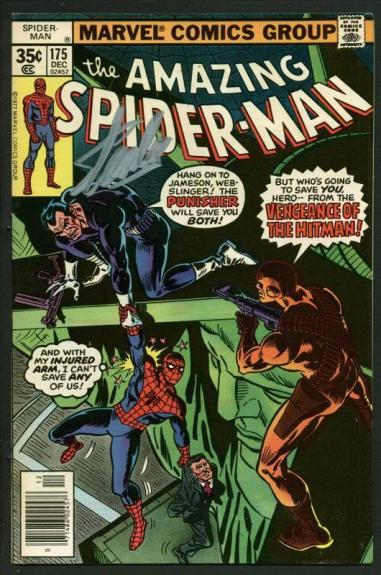 Stan Lee Signed Amazing Spider-Man #175 Comic Book Punisher/Hitman PSA #W18769
