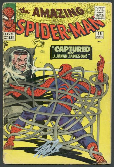 Stan Lee Signed Amazing Spider-Man #25 Comic Book J.Jonah Jameson PSA #6A20921
