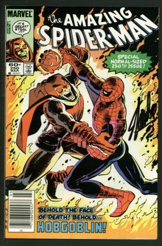 Stan Lee Signed Amazing Spider-Man #250 Comic Book Hobgoblin PSA/DNA #W18751