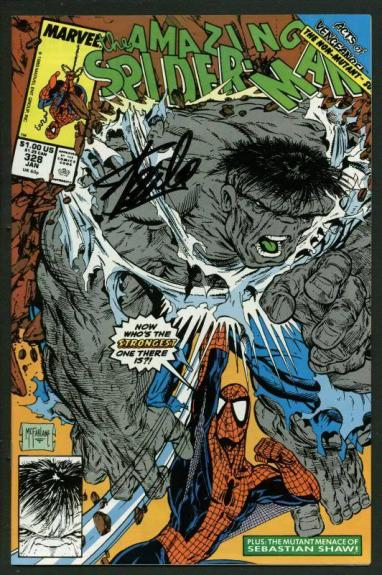 Stan Lee Signed Amazing Spider-Man #328 Comic Book The Hulk PSA/DNA #W18726