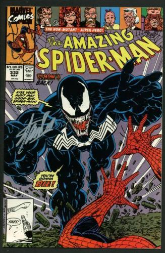 Stan Lee Signed Amazing Spider-Man #332 Comic Book Venom PSA/DNA #W18763