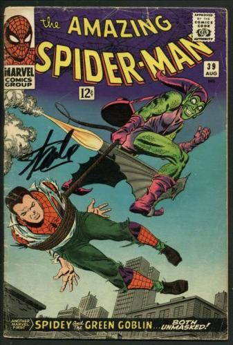 Stan Lee Signed Amazing Spider-Man #39 Comic 1St Romita Auto Mint 10! PSA V07986
