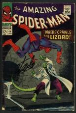 Stan Lee Signed Amazing Spider-Man #44 Comic Book The Lizard PSA/DNA #W18772