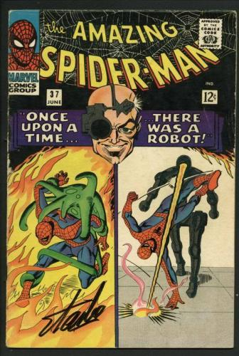 Stan Lee Signed Amazing Spider-Man #45 Comic Book The Lizard PSA/DNA #W18798