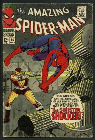 Stan Lee Signed Amazing Spider-Man #46 Comic Book The Shocker PSA/DNA #W18622