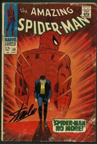 Stan Lee Signed Amazing Spider-Man 50 Comic 1St Kingpin Auto Mint 10! PSA V07981