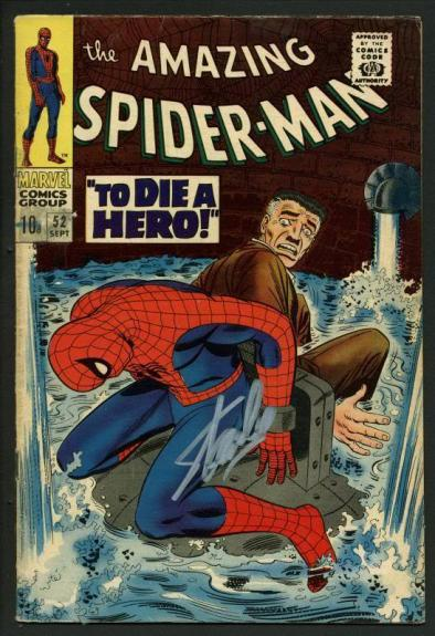 Stan Lee Signed Amazing Spider-Man #52 Comic Book Kingpin PSA/DNA #W18758