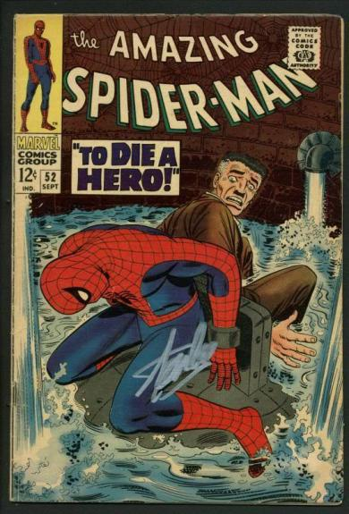 Stan Lee Signed Amazing Spider-Man #52 Comic Book Kingpin PSA/DNA #W18761