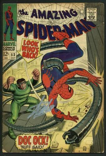 Stan Lee Signed Amazing Spider-Man #53 Comic Book Dr Octopus PSA/DNA #W18756