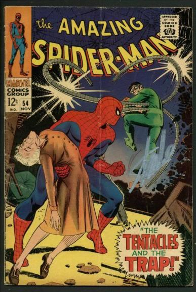 Stan Lee Signed Amazing Spider-Man #54 Comic Book Dr Octopus PSA/DNA #W18757