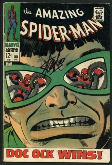 Stan Lee Signed Amazing Spider-Man #55 Comic Book Dr Octopus PSA/DNA #W18626