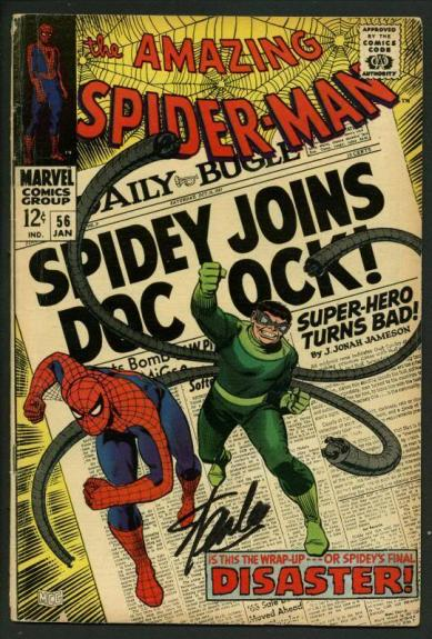 Stan Lee Signed Amazing Spider-Man #56 Comic Book Dr Octopus PSA/DNA #W18597