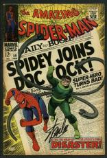 Stan Lee Signed Amazing Spider-Man #56 Comic Book Dr Octopus PSA/DNA #W18785