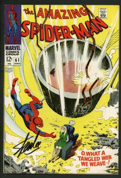 Stan Lee Signed Amazing Spider-Man #61 Comic Book Gwen Stacey PSA/DNA #W18672