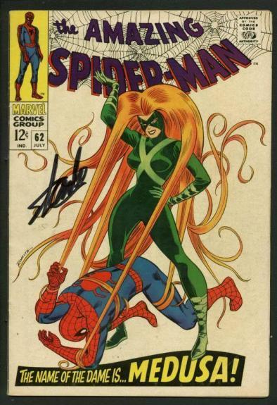 Stan Lee Signed Amazing Spider-Man #62 Comic Book MedUSA PSA/DNA #W18595