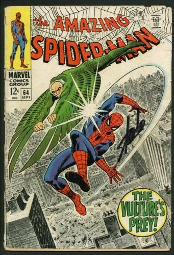 Stan Lee Signed Amazing Spider-Man #64 Comic Book The Vulture'S Prey PSA #W18744