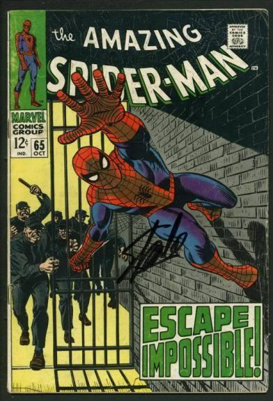 Stan Lee Signed Amazing Spider-Man #65 Comic Book Escape Impossible PSA #W18736