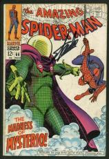 Stan Lee Signed Amazing Spider-Man #66 Comic Book Madness Of Mysterio PSA W18775