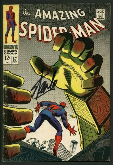 Stan Lee Signed Amazing Spider-Man #67 Comic Book Mysterio PSA/DNA #W18603