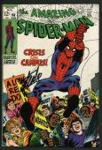 Stan Lee Signed Amazing Spider-Man #68 Comic Book Crisis On Campus PSA #W18610