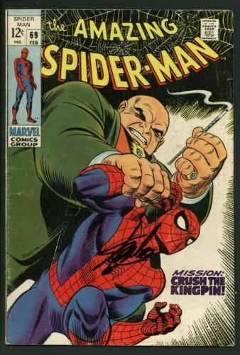 Stan Lee Signed Amazing Spider-Man #69 Comic Book Crush The Kingpin PSA #W18607