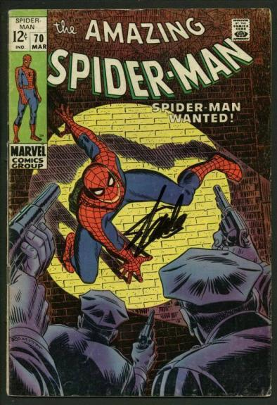 Stan Lee Signed Amazing Spider-Man #70 Comic Book Kingpin PSA/DNA #W18612