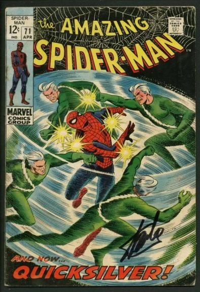 Stan Lee Signed Amazing Spider-Man #71 Comic Book Quicksilver PSA/DNA #W18611