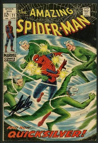 Stan Lee Signed Amazing Spider-Man #71 Comic Book Quicksilver PSA/DNA #W18779