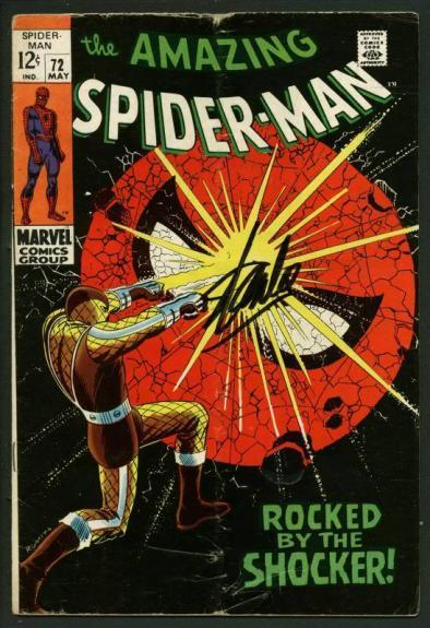 Stan Lee Signed Amazing Spider-Man #72 Comic Book Rocked By Shocker PSA #W18739