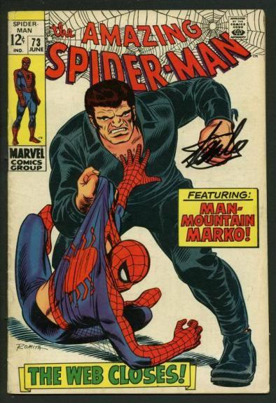 Stan Lee Signed Amazing Spider-Man #73 Comic Book Man-Mountain Marko PSA #W18598
