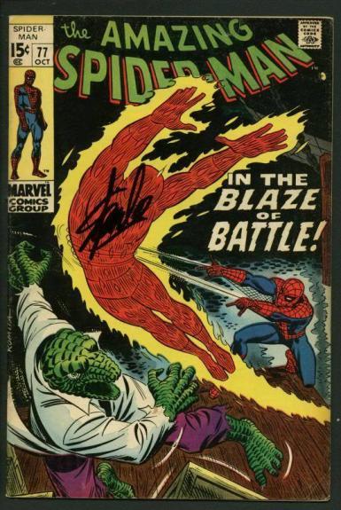 Stan Lee Signed Amazing Spider-Man #77 Comic Book Human Torch/Lizard PSA #W18801