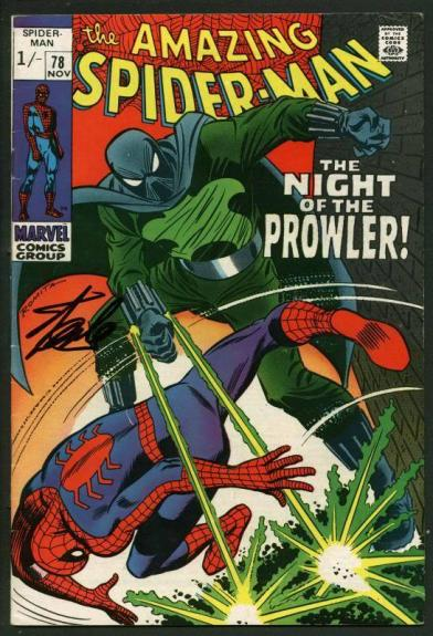 Stan Lee Signed Amazing Spider-Man #78 Comic Book Night Of Prowler PSA #W18838