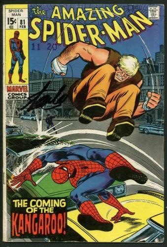 Stan Lee Signed Amazing Spider-Man #81 Comic Book The Kangaroo PSA/DNA #W18613