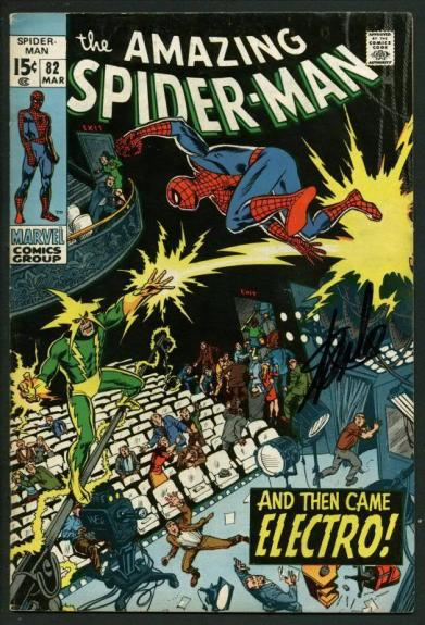 Stan Lee Signed Amazing Spider-Man #82 Comic Book Electro PSA/DNA #W18599