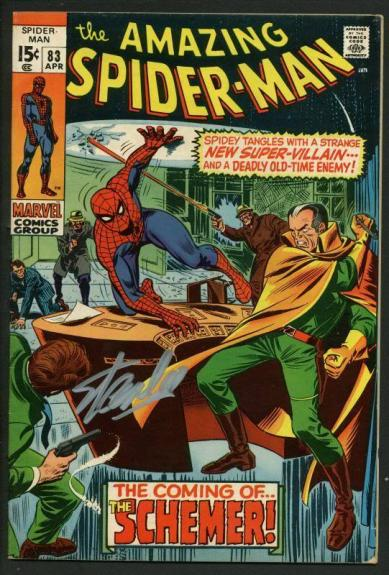 Stan Lee Signed Amazing Spider-Man #83 Comic Book The Schemer PSA/DNA #W18766