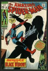 Stan Lee Signed Amazing Spider-Man #86 Comic Book The Black Widow PSA #W18767