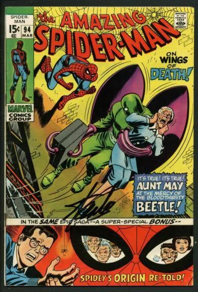 Stan Lee Signed Amazing Spider-Man #94 Comic Book The Beetle PSA/DNA #W18601