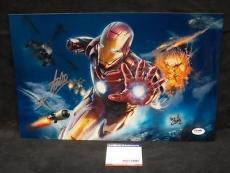 Stan Lee Signed Autograph Iron Man  Chrome Metallic 9x15 Photo Psa/dna X05372