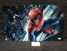Stan Lee Signed Autograph Spiderman  Chrome Metallic 12x20 Photo Psa/dna X05436