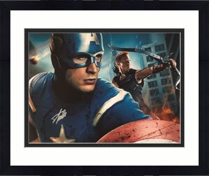 Stan Lee Signed Autographed 16x20 Photo JSA Authen Captain America Marvel