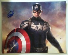 Stan Lee Signed Autographed 16x20 Photo Marvel Universe Capt America JSA COA 7