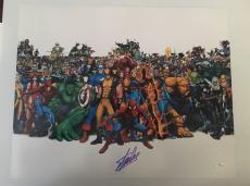 Stan Lee Signed Autographed 16x20 Photo Marvel Universe JSA COA 16