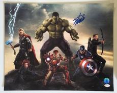 Stan Lee Signed Autographed 16x20 Photo Marvel Universe The Avengers JSA COA 6